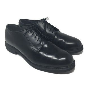 Bates Black Leather Uniform Military Oxford 10D
